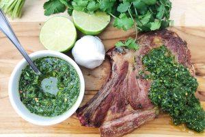 Chimichurri para tus cortes de carne